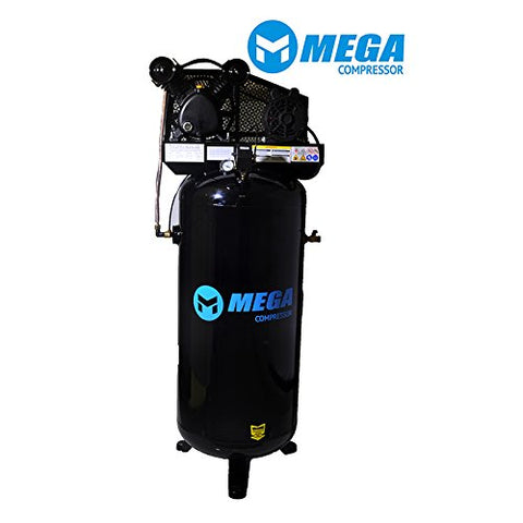 60 Gallon, 3HP, 1 Phase, 11.8 CFM MegaPower Air Compressor MP-6060V - StaplerManiaStore