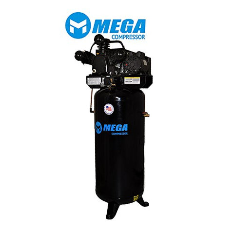 60 Gallon, Single Stage, 1 Phase, 18.2 CFM MegaPower Air Compressor MP-6560V - StaplerManiaStore