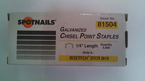 "STCR2619 1/4"" Staples for Bostitch - StaplerManiaStore"