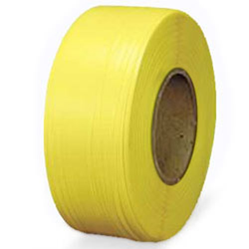 "Polypropylene Strapping - 1/2"" x .031"" x 7200', Yellow, 8"" x 8"" Core - StaplerManiaStore"