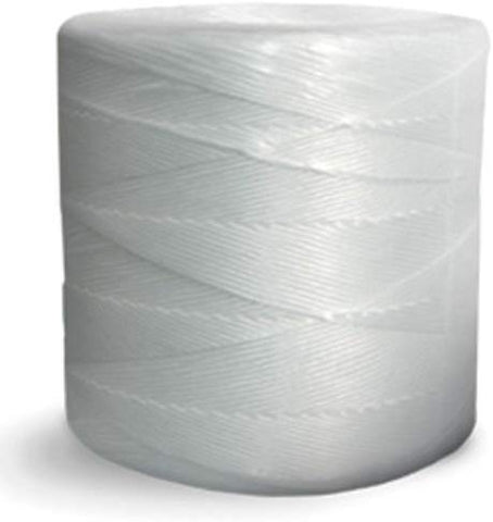 Split Film Polypropylene Tying Twine - 1 Ply, 135 lbs Tensile, White (Pack of 4 rolls) - StaplerManiaStore