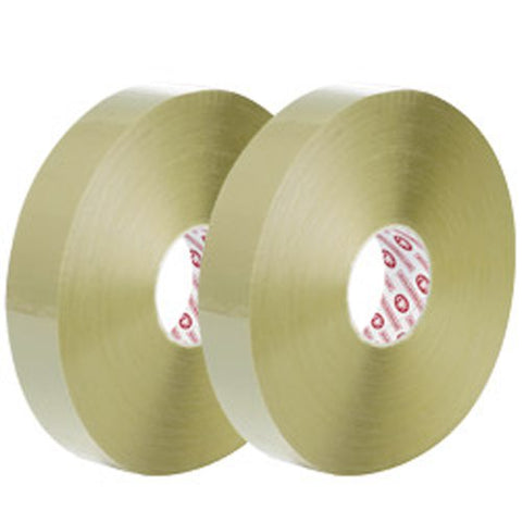 "Machine Carton Sealing Tape - 2 mil, 2"" x 1000 yds, Clear (Pack of 6 rolls) - StaplerManiaStore"