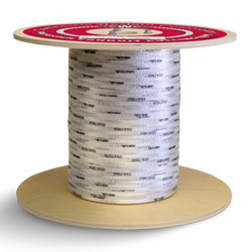 "3/4"" x 3000', 1800 lbs Polyester Mule Tape - White w/Black Markers - StaplerManiaStore"