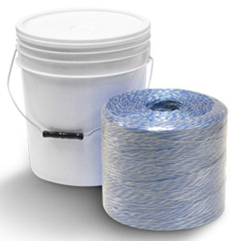 Conduit Pull Line - White & Blue - Conduit Pull Line w/ Dispenser Bucket - 6500', 210 lbs Tensile, 10# tube (1 Tube/1 Bucket) - CWC-027014 - StaplerManiaStore