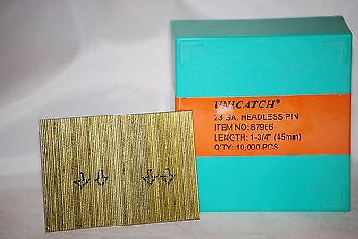 "1-3/4""23 Ga. Galv. Unicatch Micro Pins also fits Grex, Senco,Bostitch 10,000/Box - StaplerManiaStore"