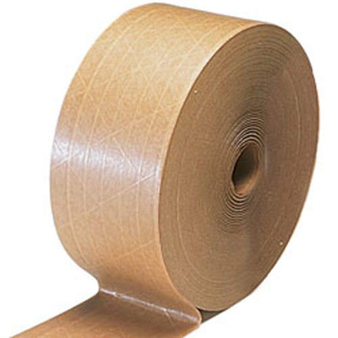 "Water Activated Kraft Tape, 3"" x 600' (Pack of 10 rolls) - StaplerManiaStore"