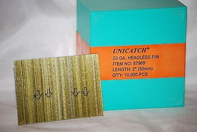 "2"" 23 Gauge Galv. Unicatch Headless Pins Fits:Grex, Senco,Bostitch 10,000/Box - StaplerManiaStore"