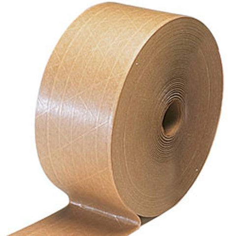 "Reinforced Water Activated Kraft Tape - 2 3/4"" x 450' (Pack of 10 rolls) - StaplerManiaStore"