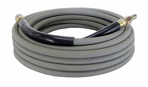 Pressure Parts 00101QC Non-Marking Pressure Washer Hose - 4000 PSI 50 ft. Length 50' Gray with Couplers - StaplermaniaStore