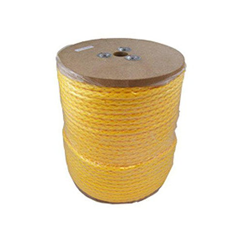 CWC 100110 1/2 Inch Hollow Braid Monofilament Polypropylene Rope 500' - StaplerManiaStore