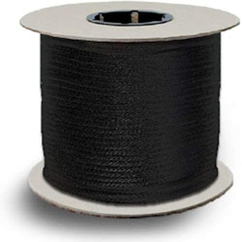 "Zenith Diamond Braid 100% MFP Rope - 1/8"" x 1000 ft., Black - StaplerManiaStore"