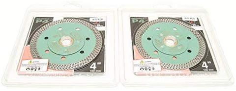 "2 Pack Pearl Abrasive 4"" Thin Turbo Mesh Porcelain Diamond Blade. 4 X .048 X 7/8, 20mm, 5/8 - StaplerManiaStore"