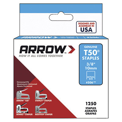 "Arrow T50 Staples - 50624, 3/8"" (10mm) - StaplerManiaStore"