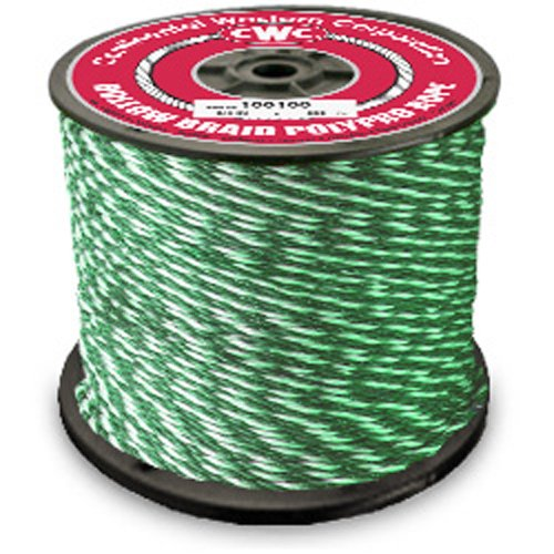 "Hollow Braid Polypropylene Rope - 1/4"" x 1000 ft, Green - StaplerManiaStore"
