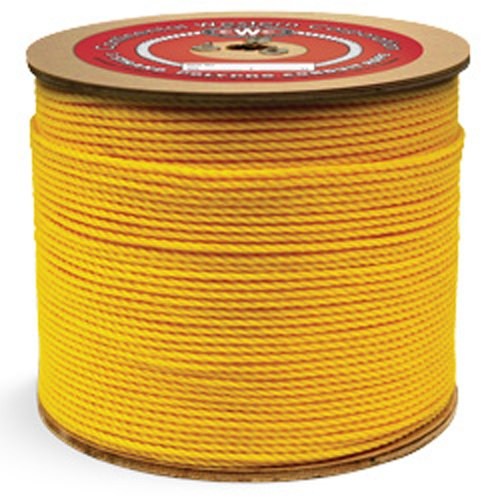 "Polypropylene Conduit Rope - 1/8"" x 3000 ft., Yellow - StaplerManiaStore"