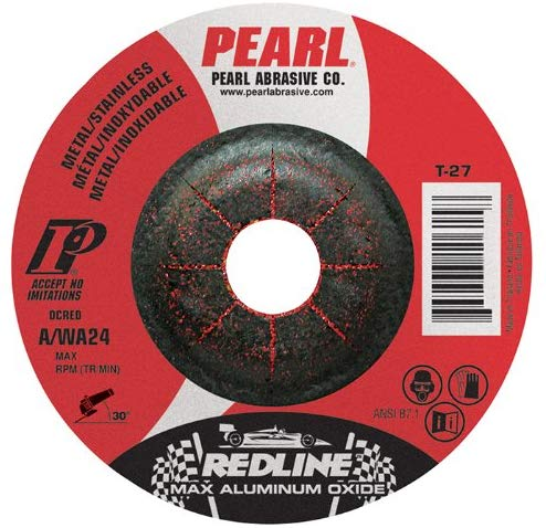 "Pearl REDLINE 6"" x 1/8"" x 7/8"" Depressed Center Grinding Wheel (Pack of 10) - StaplerManiaStore"