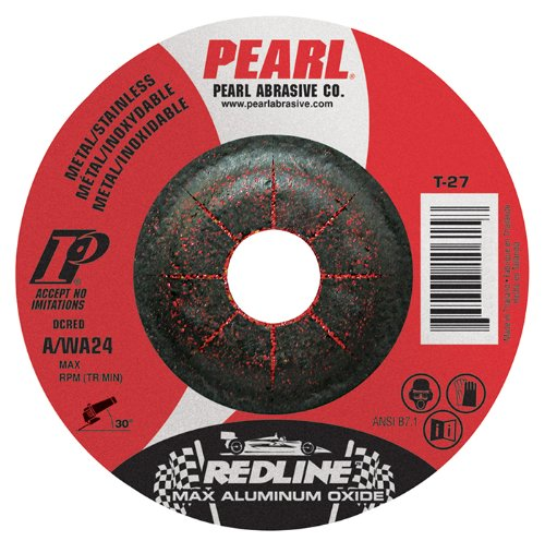 "Pearl REDLINE 5"" x 1/8"" x 7/8"" Depressed Center Grinding Wheel (Pack of 25) - StaplerManiaStore"