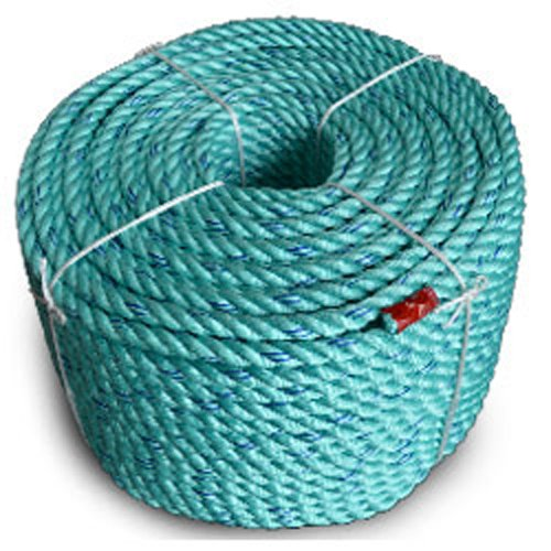 Blue Steel Floating Co-Polymer Utility Rope, Teal W/Dk Blue Tracer - StaplerManiaStore