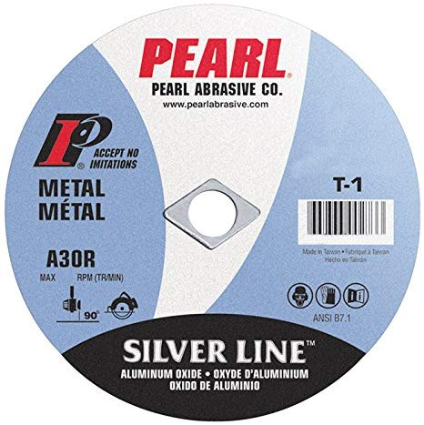 "Pearl 4"" x 1/16"" x 3/8"" Silver Line AL/OX Cut-Off Wheel (Pack of 25) - StaplerManiaStore"