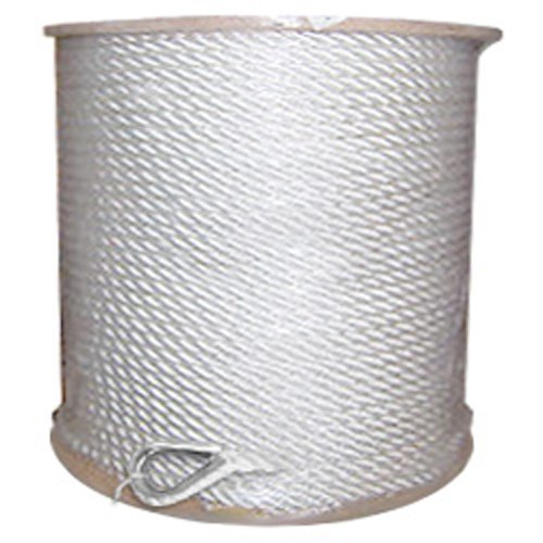 "Twisted Nylon Anchor Line with Thimble - 3/8"" x 600 ft, White - StaplerManiaStore"