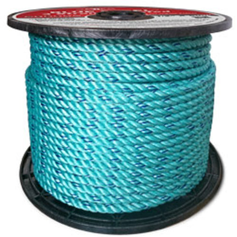 BLUE STEEL Rope Standard Lay, Teal with Dark Blue Tracer - StaplerManiaStore