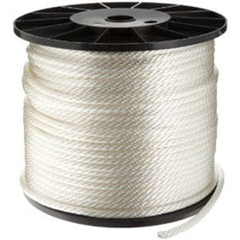 CWC Solid Braid Nylon Rope, White - StaplerManiaStore