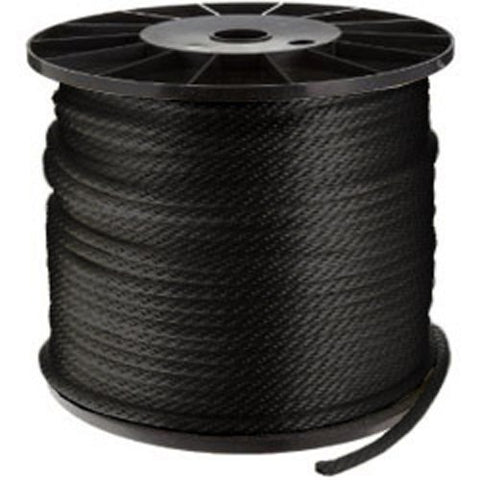 CWC Solid Braid Nylon Rope Spool, Black - StaplerManiaStore