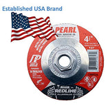 5-PK Pearl Abrasive Depressed Center Grinding Wheel Aluminum Oxide Red-Line MAX-A.O. Type 27 - StaplerManiaStore