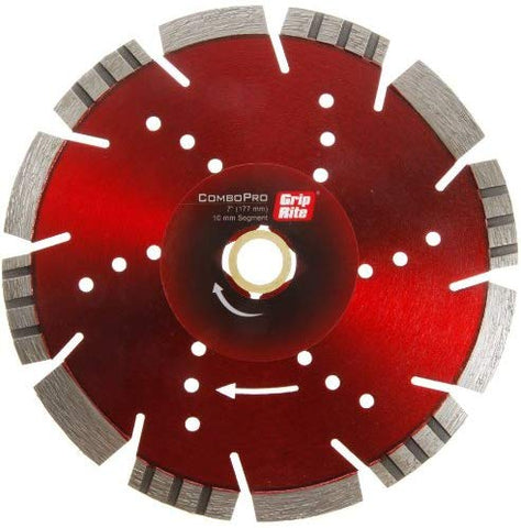 Grip-Rite GRCOMBOP7 7-Inch Combopro Combination Diamond Blade - 10mm Rim - StaplerManiaStore