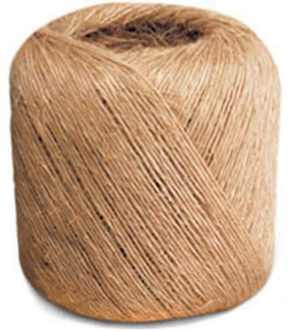 Sisal Binder Twine - 1 Ply, Natural, 5# tube (Pack of 10 tubes) - StaplerManiaStore