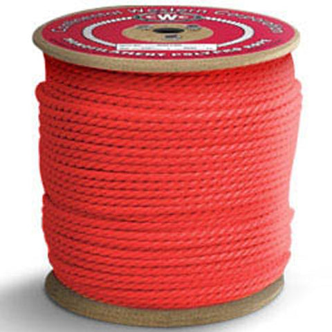"3-Strand Polypropylene Rope - 3/8"" x 600 ft, Red - StaplerManiaStore"