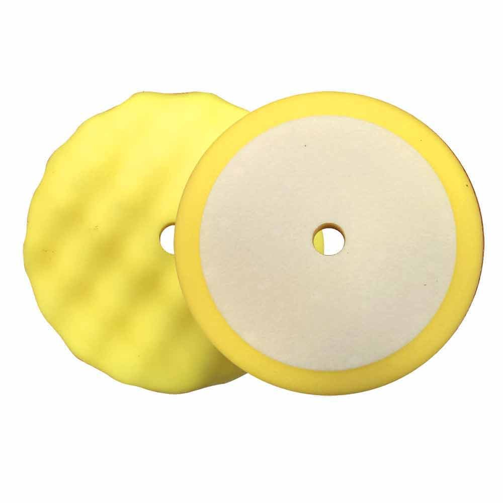 "Superior Pads and Abrasives PCY08 8"" Buffing Foam Pad for Compounding (Yellow) - StaplerManiaStore"