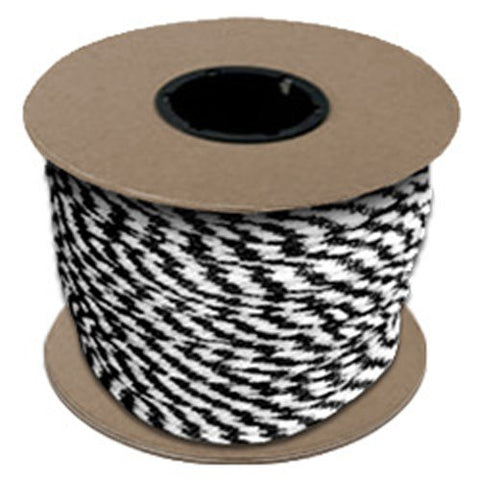"Halter - Lead Rope - Black & White - Braided - MFPP 27/64"" x 500', 1150 lbs Tensile (1 Spool) - CWC-115331 - StaplerManiaStore"