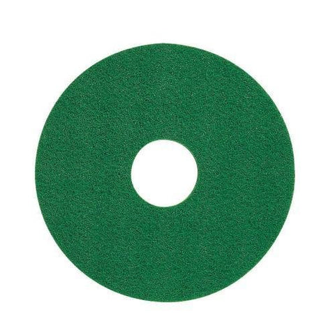 Floor Pad 17 Inch Diameter Green Stripping Americo Buffer Polish Scrubber (5 Pieces) - StaplermaniaStore