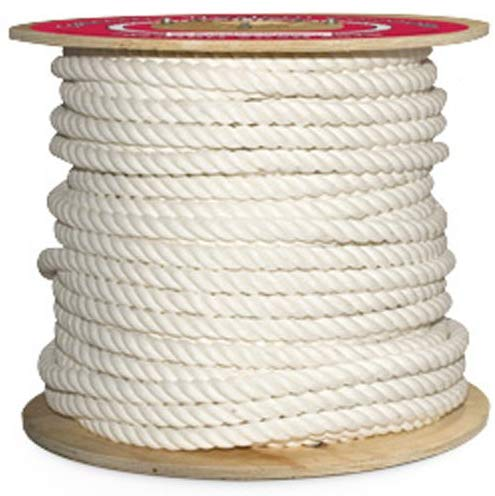 "Cotton Halter Rope - 3/4"" x 300 ft., White - StaplerManiaStore"