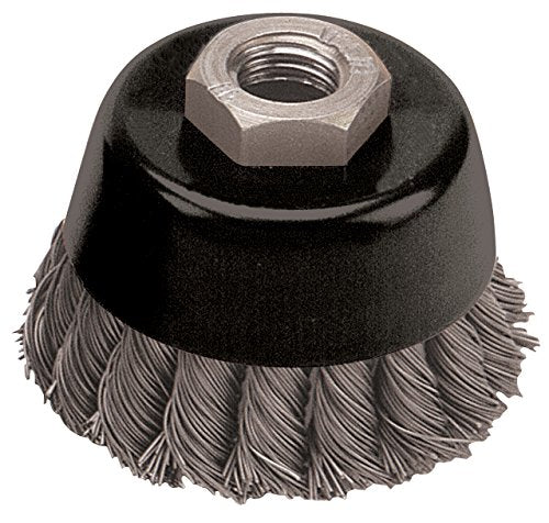 Pearl Abrasive Knot Cup Wire Brush with Stainless Wire - StaplerManiaStore
