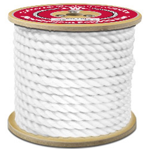 CWC 3-Strand Twisted Polypropylene Rope, White - StaplerManiaStore