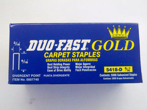 "Duo Fast 5418D 3/16"" Crown x 9/16"" Staple - StaplerManiaStore"
