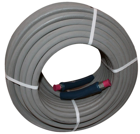 "100 ft 3/8"" Gray Non-Marking 4000psi Pressure Washer Hose - StaplerManiaStore"