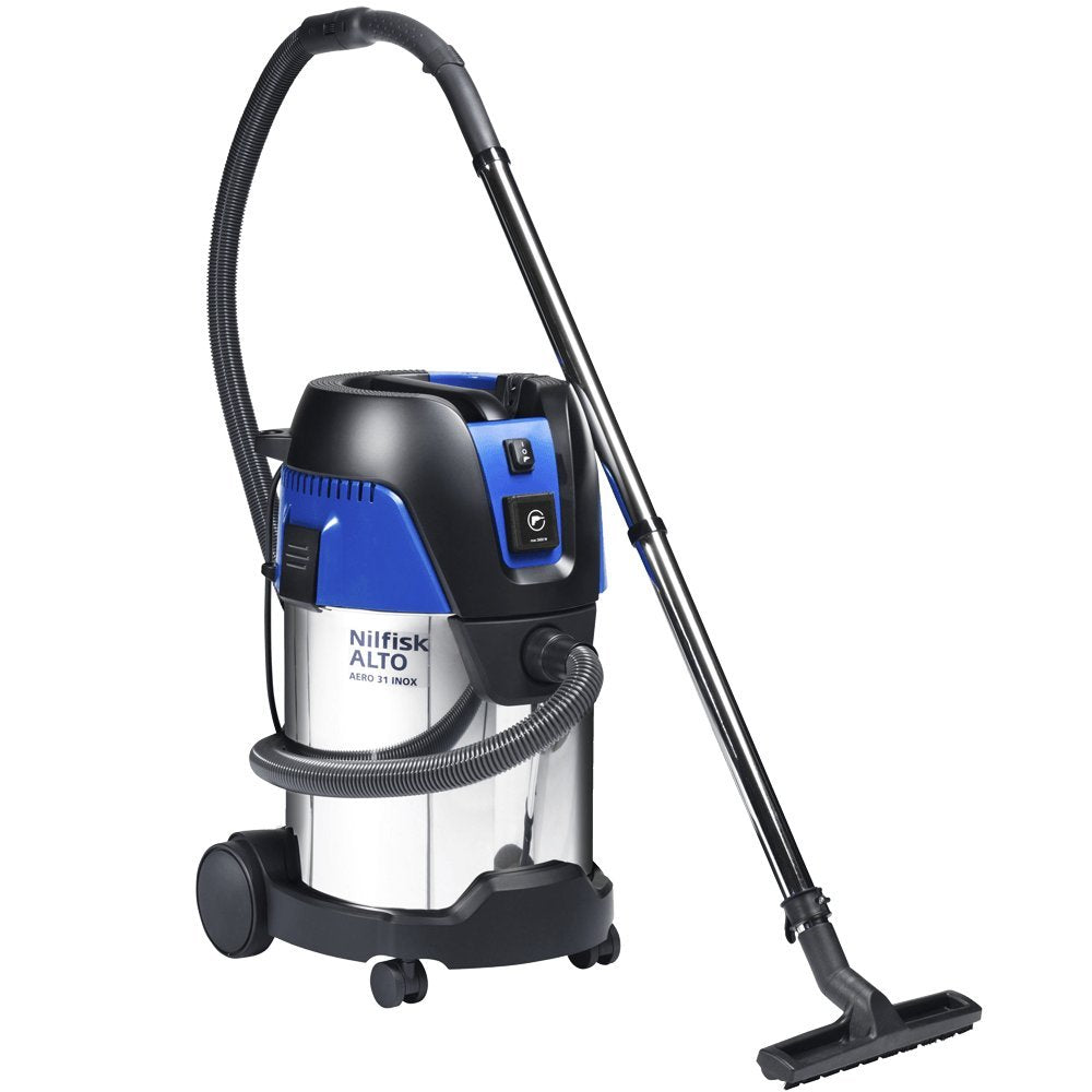 Aero 31 8 Gal. Professional Wet/Dry HEPA Vac, Tool Start, Stainless - StaplerManiaStore