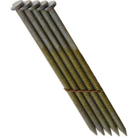 Grip Rite Prime Guard GRS8DRHG 28-deg HD Galv Wire Clipped Head Nails, Ring 2-3/8-inch by .113 (2,500 per pk), Steel - StaplermaniaStore