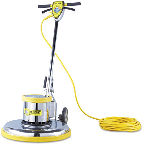 "MERCURY FLOOR MACHINES PRO21 PRO-175-21 Floor Machine, 1.5 HP, 175 RPM, 20"" Brush Diameter - StaplerManiaStore"