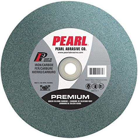 Pearl Abrasive BG810080 Green Silicon Carbide Bench Grinding Wheel with C80 Grit