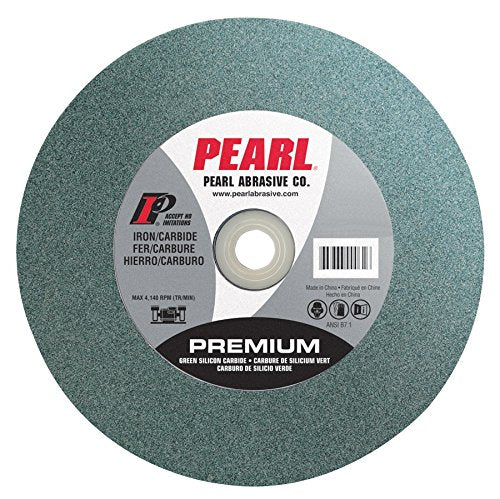 Pearl Abrasive BG122080 Green Silicon Carbide Bench Grinding Wheel with C80 Grit - StaplerManiaStore