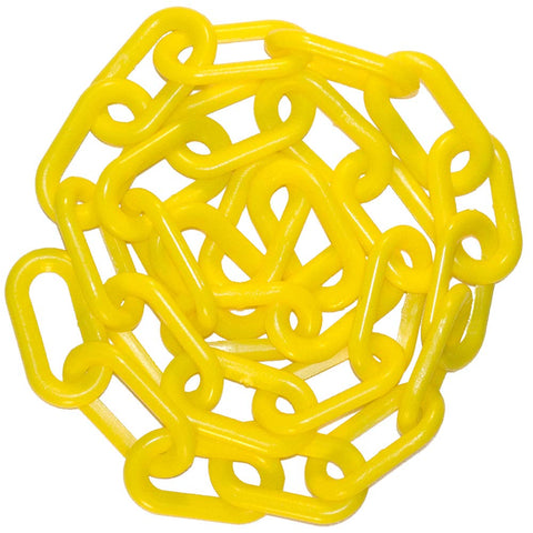 "1""  Plastic Chain, 100 feet-Yellow - StaplerManiaStore"
