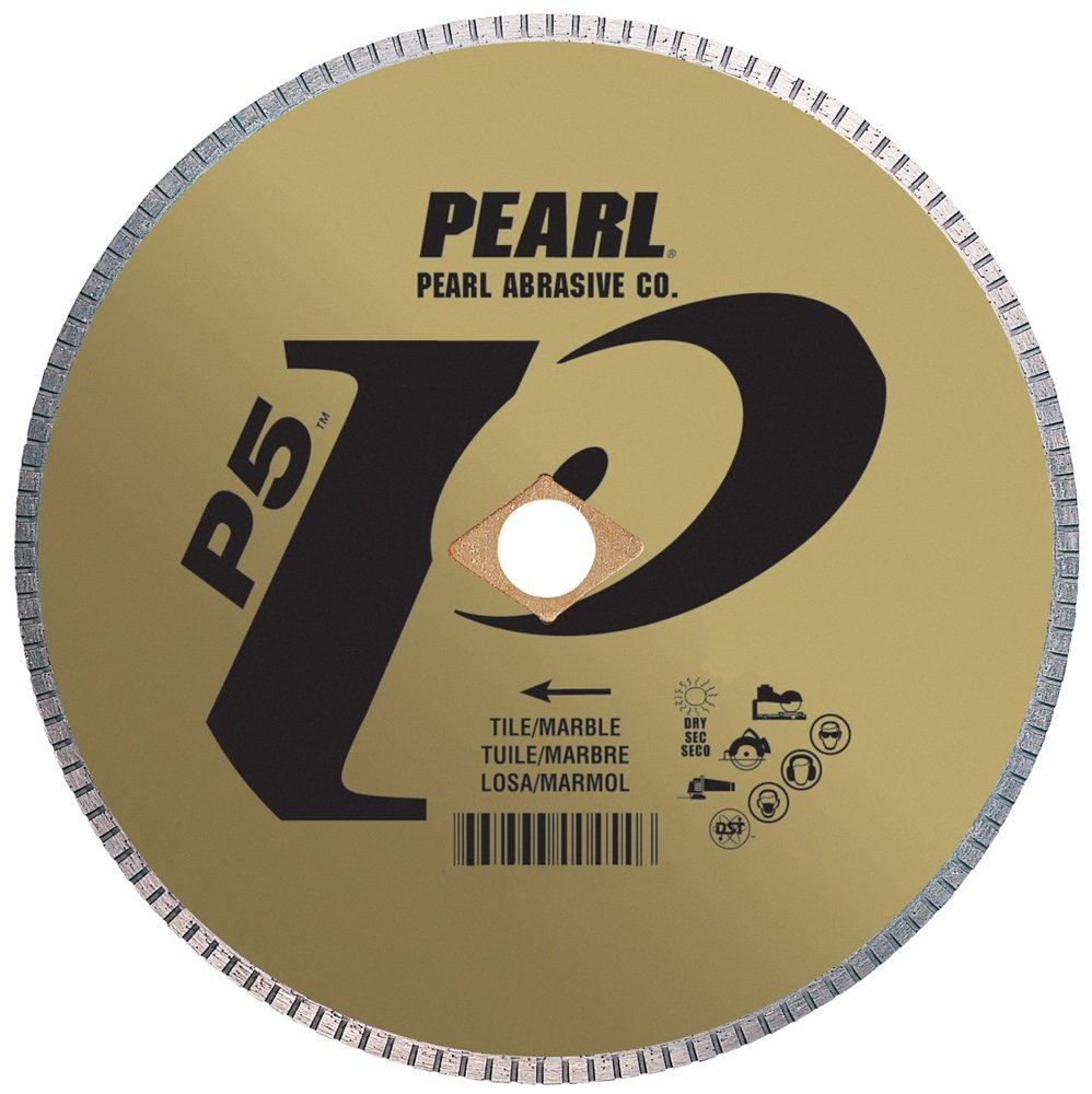 Pearl Abrasive P5 DIA10SH5 Turbo Rim Blade for Tile and Marble 10 x .060 x 5/8 - StaplermaniaStore