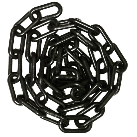 "1"" 4mm Plastic Chain, 100 feet-Black - StaplermaniaStore"