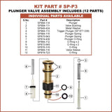 Superior Parts SP-P3 Plunger Valve Assembly for Hitachi NR83A / A2 / A2S - StaplerManiaStore