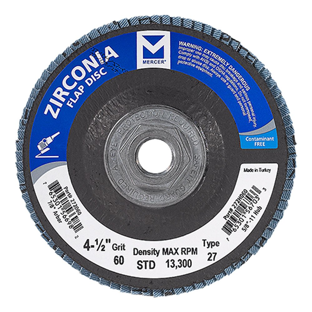 Mercer Industries 272H024 Zirconia Flap Disc - StaplerManiaStore