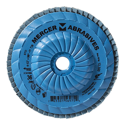 Mercer Industries Zirconia Flap Disc Trimmable - StaplerManiaStore